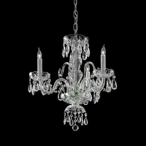Crystorama Clear Hand Cut Crystal Chandelier 3 Lights - Polished Chrome - 5044-CH-CL-MWP - PeazzLighting