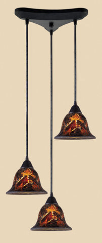 ELK Lighting 10144-3Fs Firestorm Three Light Pendant In Dark Rust - PeazzLighting