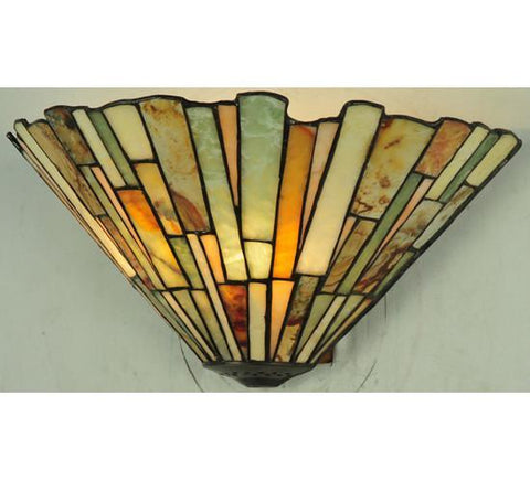 "Meyda Tiffany 106732 13""W Jadestone Delta Wall Sconce - PeazzLighting"