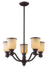 Landmark Lighting 66173-5 Brooksdale Five Light Chandelier in Oiled Bronze - PeazzLighting
