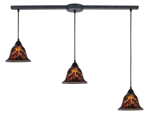 ELK Lighting Firestorm Firestorm 3-Light Pendant In Dark Rust - 10144/3L-FS - Peazz.com