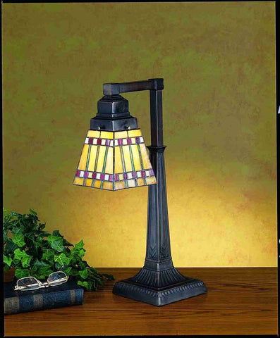 "Meyda Tiffany 27657 20""H Prairie Corn Desk Lamp - PeazzLighting"