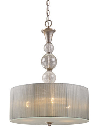 ELK Lighting 20007-3 Alexis Three Light Pendant In Antique Silver - PeazzLighting