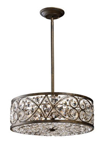 ELK Lighting 11287-6 Amherst Six Light Pendant In Antique Bronze - PeazzLighting