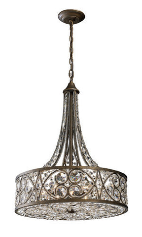 ELK Lighting 11288-6 Amherst Six Light Pendant In Antique Bronze - PeazzLighting