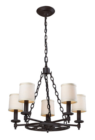 Landmark 66198-5 Ironton Vintage Rust Chandelier - PeazzLighting