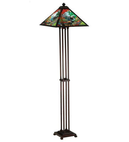 "Meyda Tiffany 140031 63.75""H Tiffany River Of Life Floor Lamp - PeazzLighting"