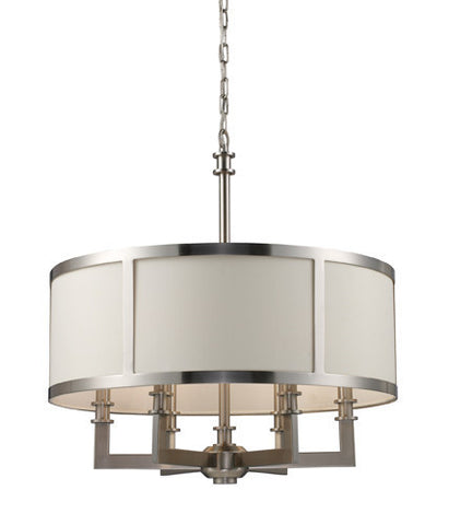 ELK Lighting Lighting 20154-6 Seven Springs Six Light Chandelier In Satin Nickel - PeazzLighting