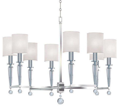 Crystorama 8108-PN Paxton 8 Light Polished Nickel Chandelier - PeazzLighting