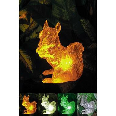 "HomeBrite 30853 7"" Clear Crystallike Solar Squirrel - PeazzLighting"