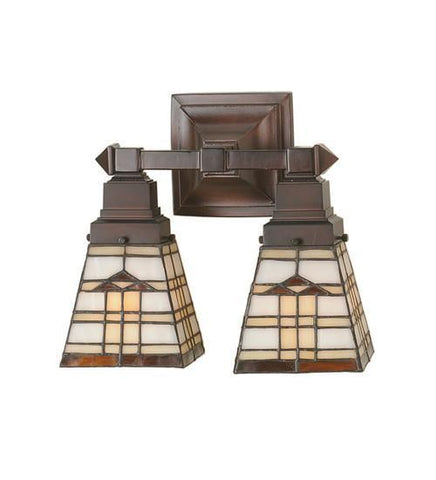 "Meyda Tiffany 98200 12""W Arrowhead Mission 2 Lt Wall Sconce - PeazzLighting"