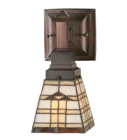 "Meyda Tiffany 98201 5""W Arrowhead Mission Wall Sconce - PeazzLighting"