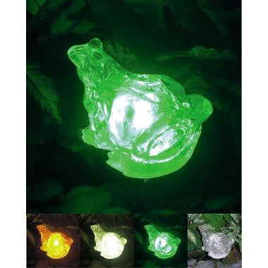 "HomeBrite 30852 6"" Clear Crystallike Solar Frog - PeazzLighting"