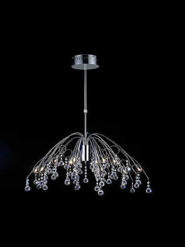 Z-Lite Parisian Crystal Chand. Collection Chrome Finish 12 Light Crystal Chandelier - ZLiteStore