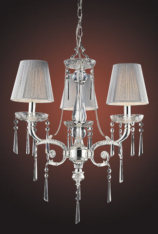 ELK Lighting Lighting 2395-3 Three Light Chandelier In Polished Silver And Iced Glass - PeazzLighting - 2