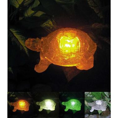 "HomeBrite 30851 7"" Clear Crystallike Solar Turtle - PeazzLighting"