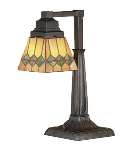 "Meyda Tiffany 48214 20""H Martini Mission Desk Lamp - PeazzLighting"