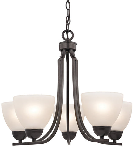 Cornerstone 1455CH/10 Kingston 5 Light Chandelier In Oil Rubbed Bronze - PeazzLighting