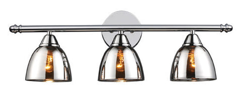 ELK Lighting 10072-3 Reflections Three Light Vanity In Polished Chrome - PeazzLighting