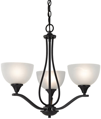 Cornerstone 2103CH/10 Bristol Lane 3 Light Chandelier  In Oil Rubbed Bronze - PeazzLighting