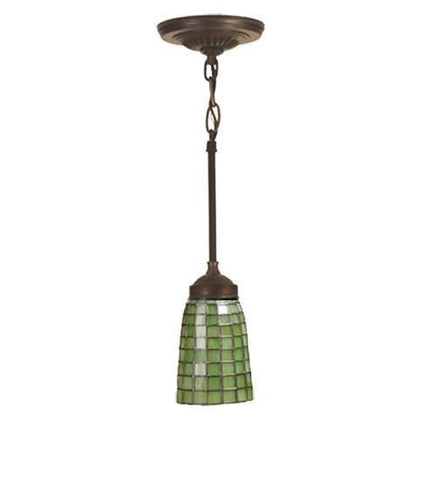 "Meyda Tiffany 102091 4.5""W Terra Verde Mini Pendant - PeazzLighting"