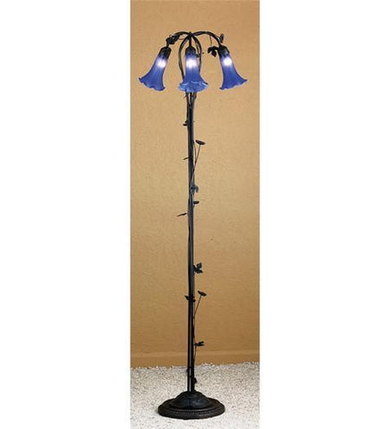 Meyda Tiffany 31333 Blue Pond Lily 3 Lt Floor Lamp  - PeazzLighting