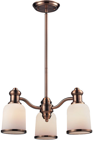 Cornerstone 2703CH/19 Brooksdale 3 Light Chandelier In Antique Copper - PeazzLighting