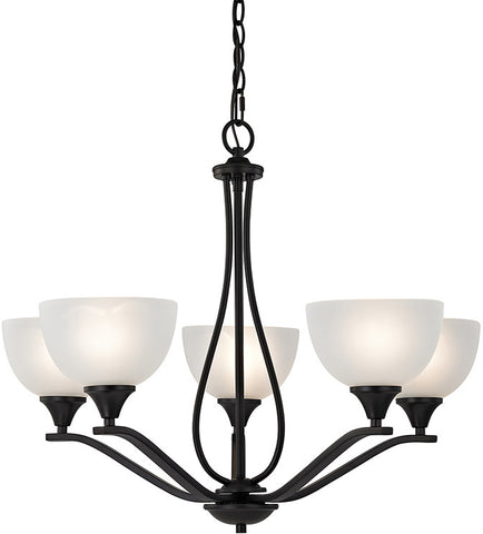 Cornerstone 2105CH/10 Bristol Lane 5 Light Chandelier  In Oil Rubbed Bronze - PeazzLighting