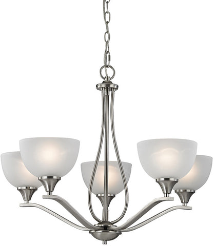 Cornerstone 2105CH/20 Bristol Lane 5 Light Chandelier  In Brushed Nickel - PeazzLighting