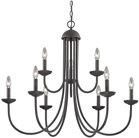 Cornerstone 1529CH/10 Williamsport 9 Light Chandelier In Oil Rubbed Bronze - PeazzLighting