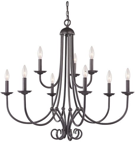Cornerstone 1509CH/10 Williamsport 9 Light Chandelier  In Oil Rubbed Bronze - PeazzLighting