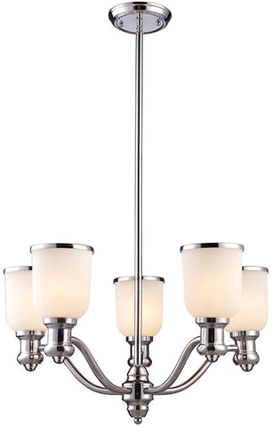 Cornerstone 2705CH/40 Brooksdale 5 Light Chandelier In Polished Chrome - PeazzLighting