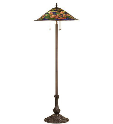 "Meyda Tiffany 32301 64""H Tiffany Pond Lily Floor Lamp - PeazzLighting"