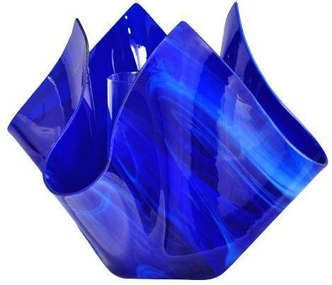 Jezebel Radiance Cobalt Navy Blue Glass Vase - PeazzLighting