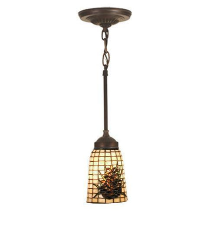 "Meyda Tiffany 104974 4.5""W Pine Barons Mini Pendant - PeazzLighting"