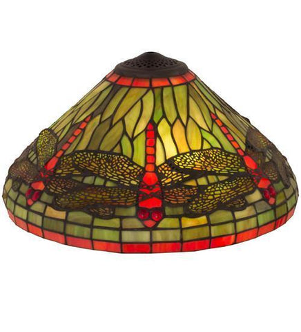 "Meyda Tiffany 10506 16""W Tiffany Dragonfly Shade - PeazzLighting"