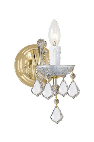 Crystorama 4471-GD-CL-S 1-Lights Maria Theresa Wall Mount Draped In Swarovski Elements Crystal - Gold - PeazzLighting