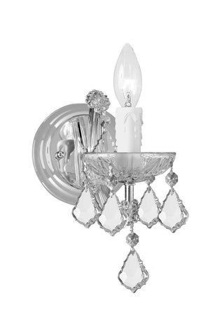 Crystorama 4471-CH-CL-SAQ 1-Lights Maria Theresa Wall Mount Draped In Swarovski Spectra Crystal - Polished Chrome - PeazzLighting