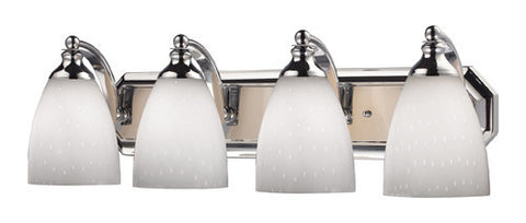ELK Lighting 570-4C-Wh Four Light Vanity In Polished Chrome And Simply White Glass - PeazzLighting