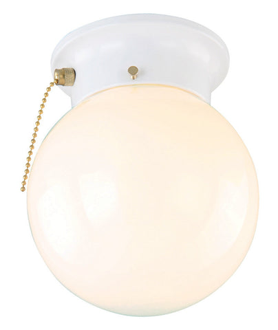 Design House 510040 510040 1 Light White With Opal Gls/Chn Ceil White - PeazzLighting