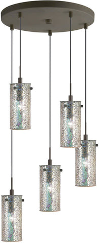 Woodbridge Lighting Eclipse Indoor Lighting Mini Pendant Cluster 13425MEB-M10IRI - PeazzLighting
