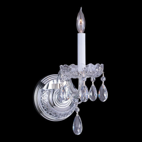 Crystorama 1031-CH-CL-MWP 1-Lights Clear Cut Crystal Wall Sconce - Polished Chrome - PeazzLighting