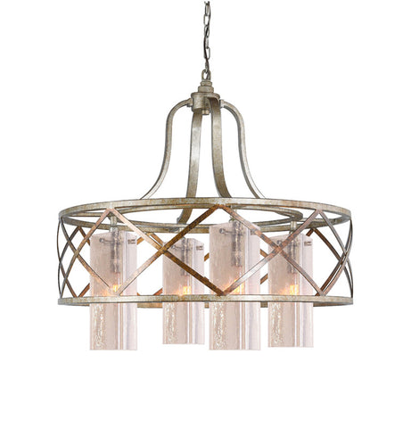 Woodbridge Lighting 12614VIN-C40432 4 Light Braid Chandelier - PeazzLighting
