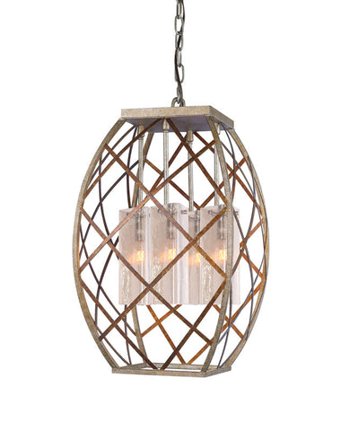 Woodbridge Lighting 12620VIN-C40432 4 Light Braid Foyer Light - PeazzLighting