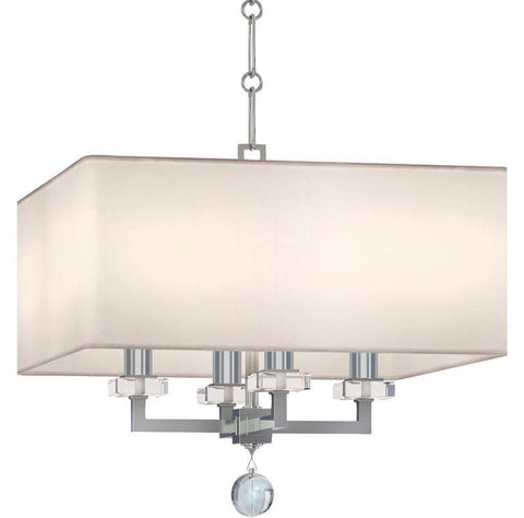 Crystorama 8105-PN Paxton 4 Light Nickel Mini Chandelier - PeazzLighting