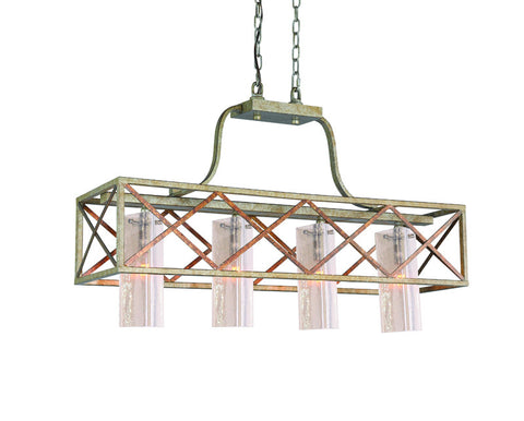 Woodbridge Lighting 12626VIN-C40432 4 Light Braid Island Light - PeazzLighting