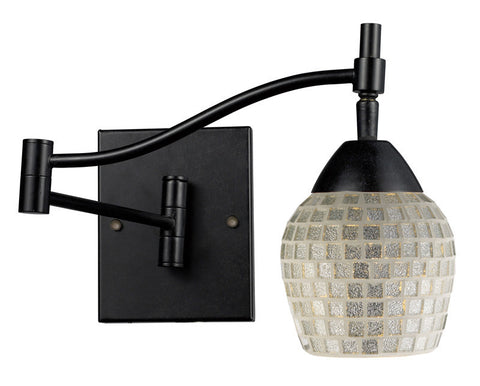ELK Lighting Celina Celina 1-Light Swingarm Sconce In Dark Rust And Silver Glass - 10151/1DR-SLV - PeazzLighting