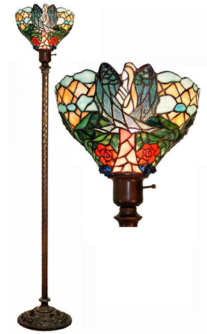 Tiffany Style Angelic Torchiere by Warehouse of Tiffany 2867+BB75B - PeazzLighting