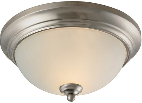 Cornerstone 7002FM/20 Huntington 2 Light Ceiling Lamp In Brushed Nickel - PeazzLighting