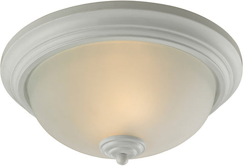 Cornerstone 7003FM/40 Huntington 3 Light Ceiling Lamp In White - PeazzLighting